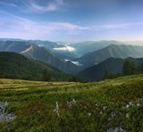 beautiful summer landscape in the mountains, beauty world