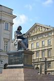 WARSAW, POLAND. Bronze monument to Nicolaus Copernicus - 140956371