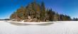 shore of the winter lake