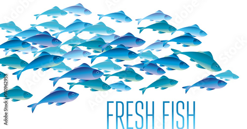 Group of fresh fish vector illustration for header web for Ok google plenty of fish