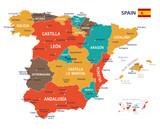 Spain map - illustration - 140964712