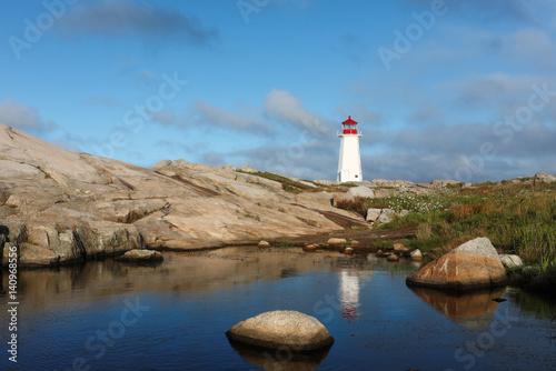 Lighthouse at Peggys Cove Sunrise, Nova Scotia, Canada