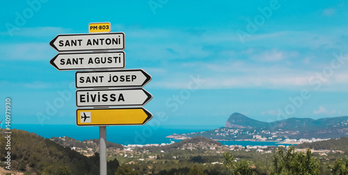 Traffic signs on Ibiza