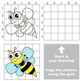 Copy the image using grid. Wasp.