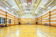 interior of empty basketball court