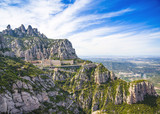Montserrat mountains and Benedictine monastery of Santa Maria de Montserrat