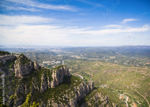Poster View from Montserrat mountains, Montserrat, Spain