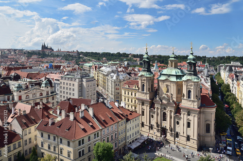 Poster Blick vom Rathausturm auf Prag