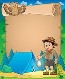 Parchment with scout boy theme 3