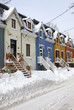 Image of a residential part of Montreal city after a snowstorm, Canada