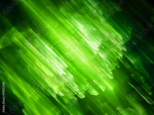 Green glowing multidimensional technology, computer generated abstract background