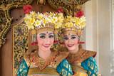 balinese legong dancers at the door