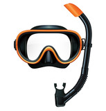 Dive mask and snorkel for professionals. Vector illustration - 141035766