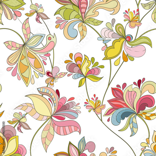 Seamless flower pattern © Mespilia