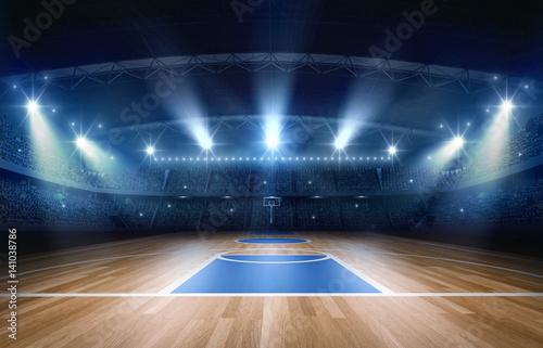 Basketball arena,3d rendering