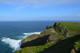 Green Grass on the Sea Cliff's in Ireland