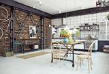 loft kitchen - 141057182