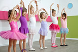 Little girls in a dance class