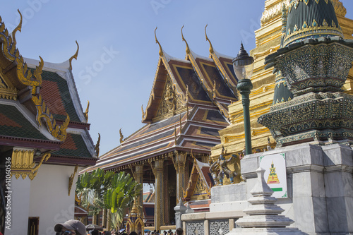 Poster Temples and Statues Grand Palace Bangkok Thailand