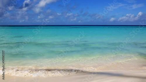 Tropical caribbean beach and blue sky.
