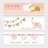 Fototapety Baby shower banner