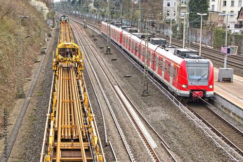 Erneuerung von Bahngleisen