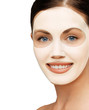 Постер, плакат: close up of woman with collagen facial mask