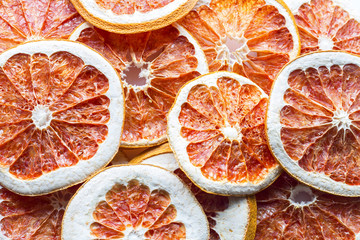citrus slices background. copy space
