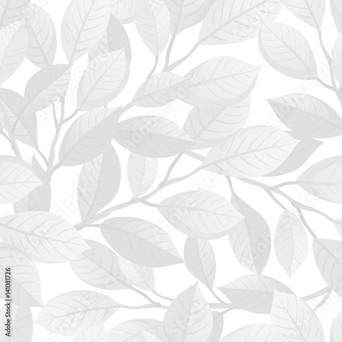 White floral seamless pattern. - 141081726