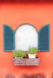 Window on wall orange