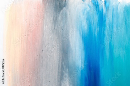 Modern art background painting, abstractionism. Blurred soft colorful gradient, pastel colors backdrop with free space.