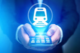 Concept of booking online train ticket - Travel concept
