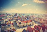 photo of wonderful view of beautiful Wroclaw on the clear sky background - 141131347
