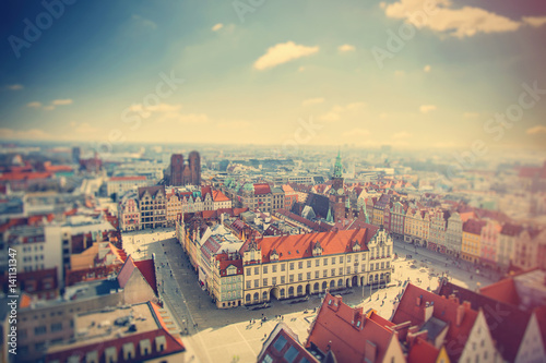 Fototapeta photo of wonderful view of beautiful Wroclaw on the clear sky background