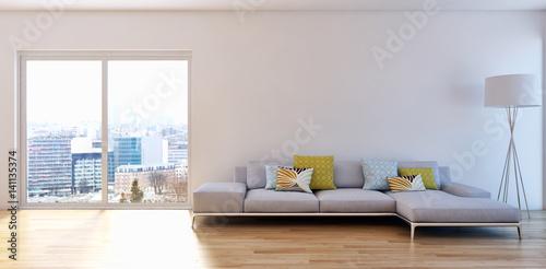 Modern living room. 3D rendering