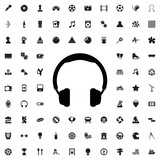 Headphones icon illustration