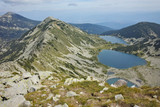 Amazing Panorama to Kremenski lakes, Pirin mountain, Bulgaria