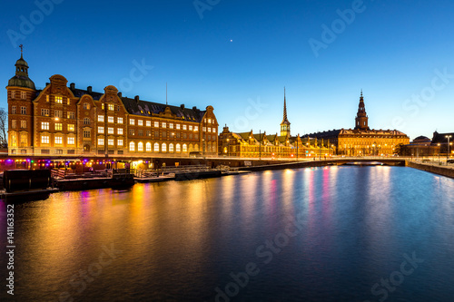 Copenhagen denmark night
