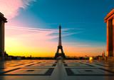 Eiffel Tower at Sunrise, Paris, France
