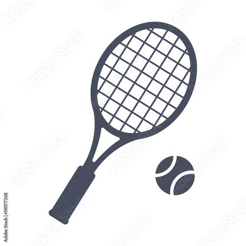 Tennis, vector illustration in trendy flat style
