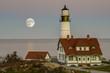 Portland Head Lighthouse and Super Moom