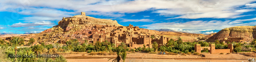 Fotobehang Marokko Panoramic view of Ait Benhaddou, a UNESCO world heritage site in Morocco