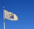 New Jersey State flag waving