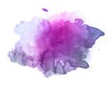 Violet watercolor splash vector  - 141202979