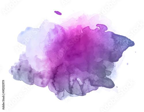 Violet watercolor splash vector
