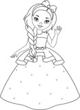 Little Princess Coloring Page