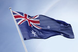 Australia flag blowing in the wind - 141211576