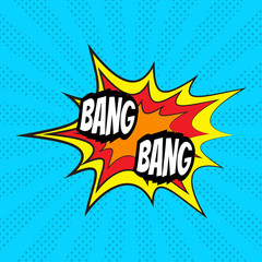 Comic speech bubble, Bang