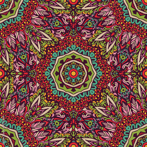 Festive colorful mandala pattern