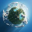 wind turbines on green planet